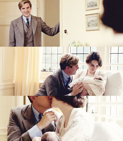 Downton Abbey - Matthew, Mary, and Baby
