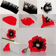 Come fare Red cioccolato Poppy Flower Bouquet