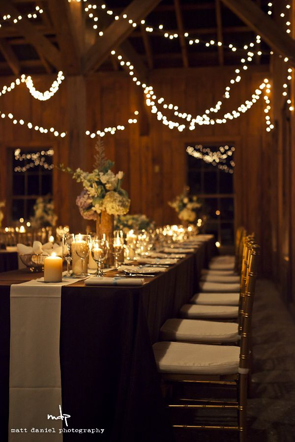 Love the string lights and candles - low lighting is gorgeous