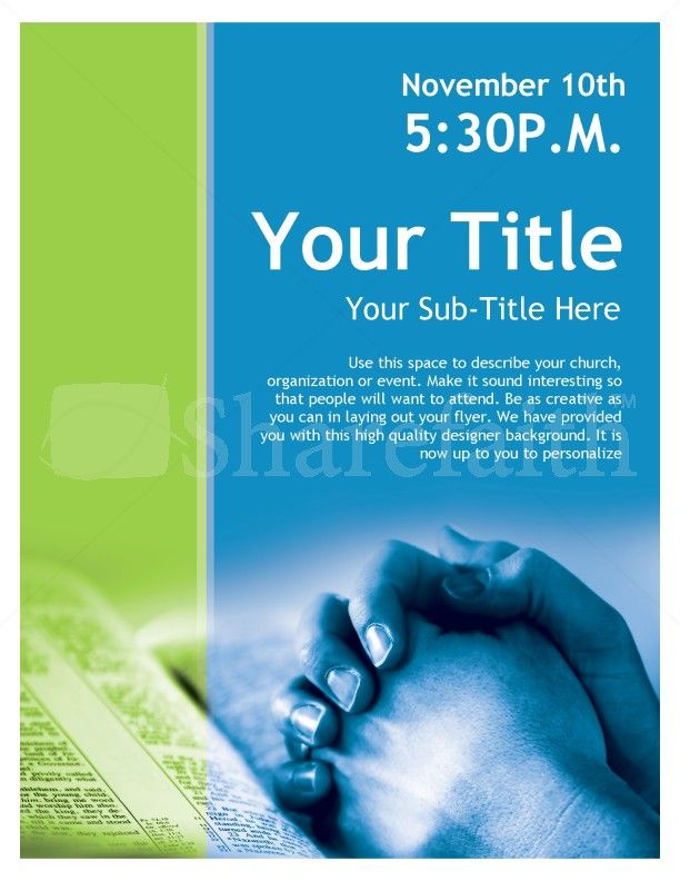 bible study flyer template free - Thevillas.co