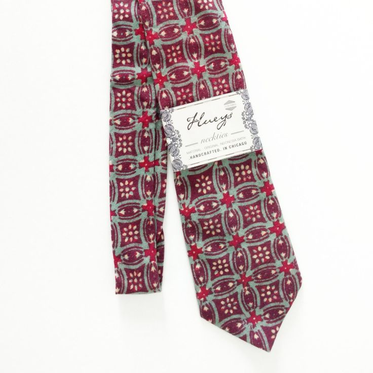 Need a tie for your spring holiday? Natural dye batik cotton necktie.