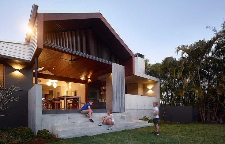 Dover House by Shaun Lockyer Architects represents a contemporary evolution of Queensland's vernacular architecture, and the practice's approach to architecture, described as subtropical-inspired regional modernism.