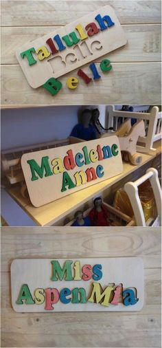 218 best kids baby tips and resources images on pinterest these gorgeous custom name puzzles would make a stunning gift for a loved one with a custom baby giftsunique negle Image collections
