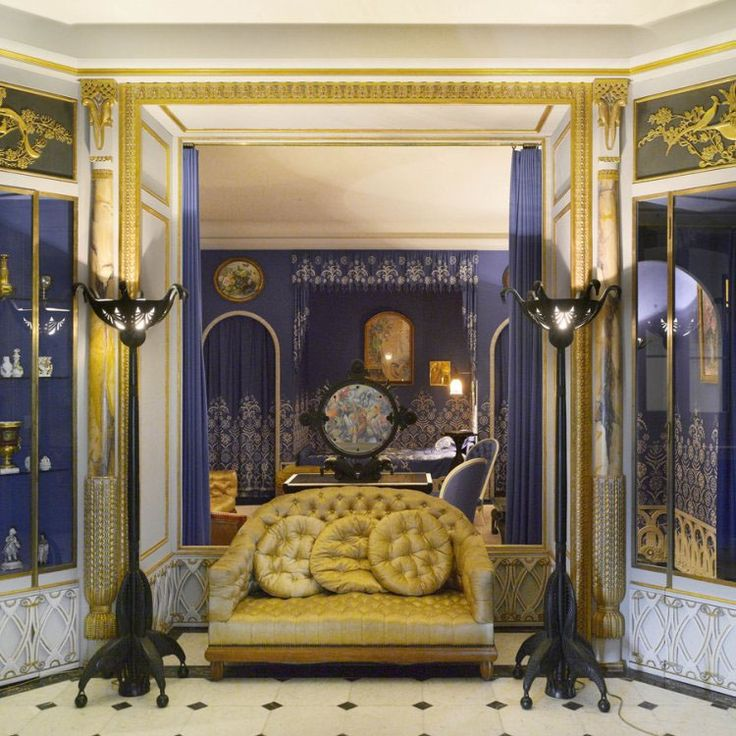 Armand Albert Rateau Was Hired During The By Jeanne Lanvin To Design Her Apartment At 16 Rue Barbet De Jouy Paris Living Room Boudoir And Bathroom Of