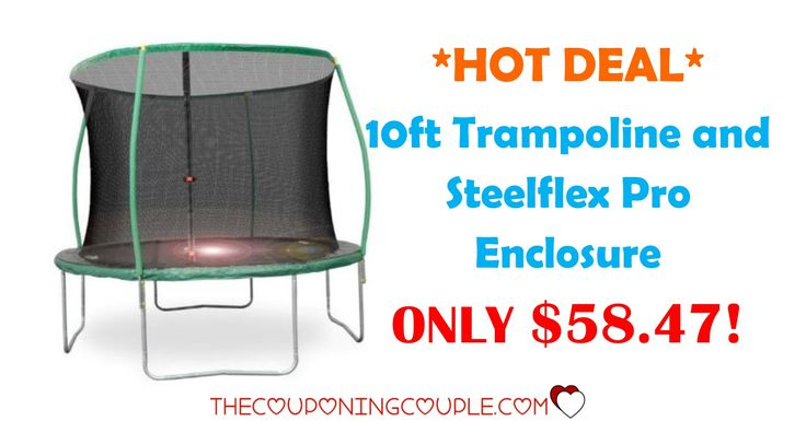 *HOT DEAL* Get this 10ft Trampoline and Steelflex Pro Enclosure for ONLY $58.47 (was $119.00)! Hurry before these are sold-out!  Click the link below to get all of the details ► http://www.thecouponingcouple.com/10ft-trampoline-and-steelflex-pro-enclosure/ #Coupons #Couponing #CouponCommunity  Visit us at http://www.thecouponingcouple.com for more great posts!
