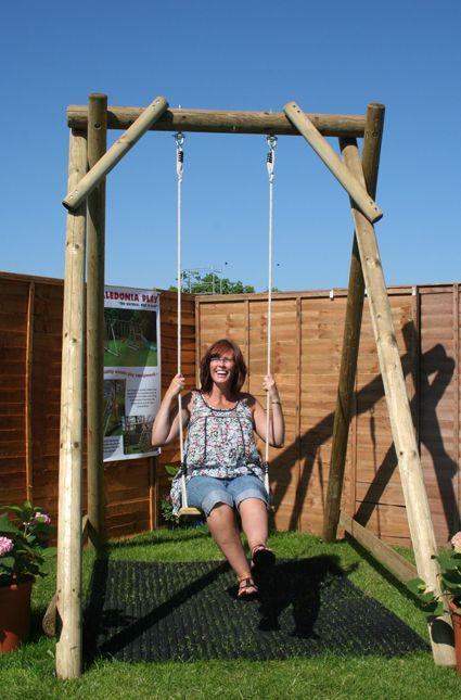 Adult swings and garden equipment. Caladium ian play company