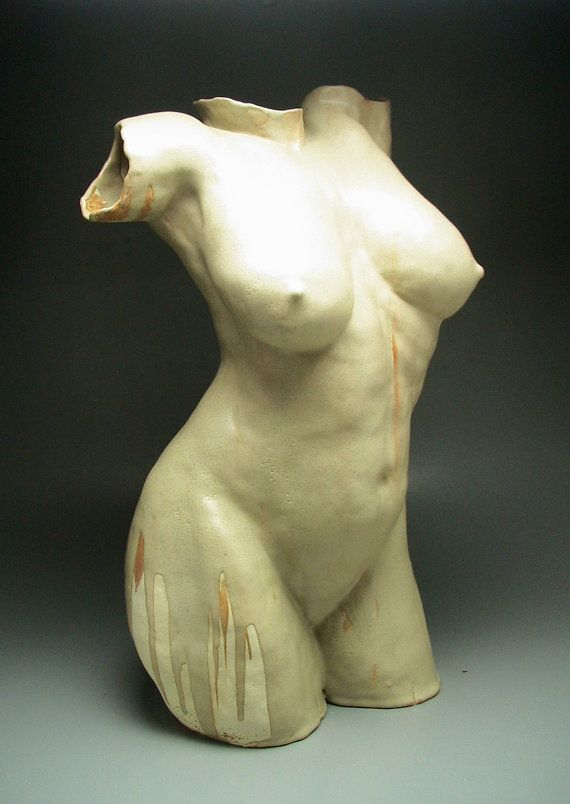 Ceramic Figure Sculpture When It Rains We Dance by AdrienArt, $1800.00