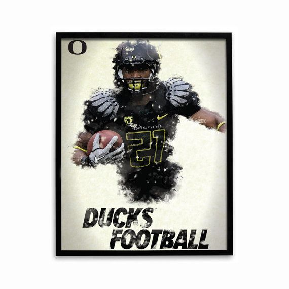 Oregon Ducks Football Poster Officially by SportPostersUSA on Etsy, $8.95
