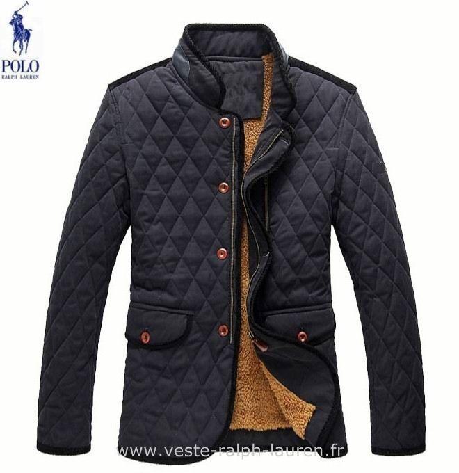 boutique Ralph Lauren hommes manteau nouvelle coton mode pas cher bleu Doudoune Homme Sans Manche Ralph Lauren