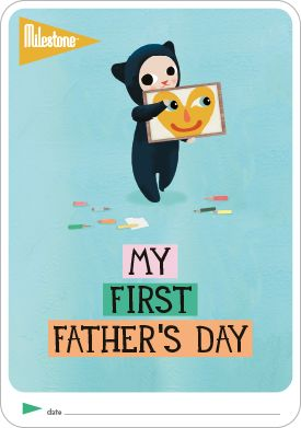 DOWNLOAD FOR FREE: My First Father's Day Card for your Baby: http://www.milestone-world.com/en/free-printables/2016/05/my-first-fathers-day/142  #milestonebaby #fathersday #babygift #freegift