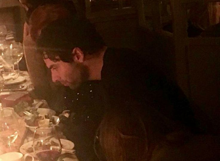 Aidan T at a dinner with some of the Poldark cast 01 23 2018.