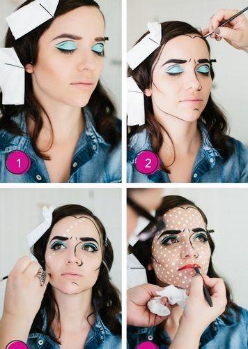 Maquillaje tipo Lichtenstein de Idieh Design
