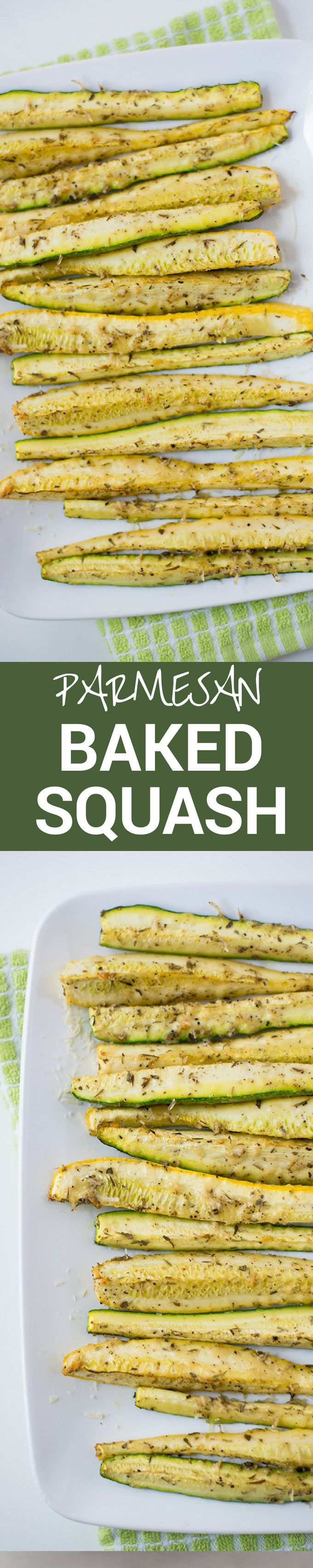 These Parmesan Bakes Squash And Zucchini Spears are so easy to make and are a great, healthy, and clean snack or dinner side.