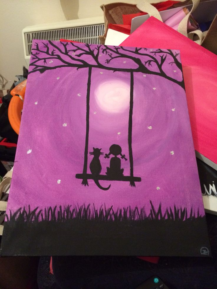 Admire the moon with your best friend (In lilac)   https://m.facebook.com/zoes.artwork.1?ref=bookmark