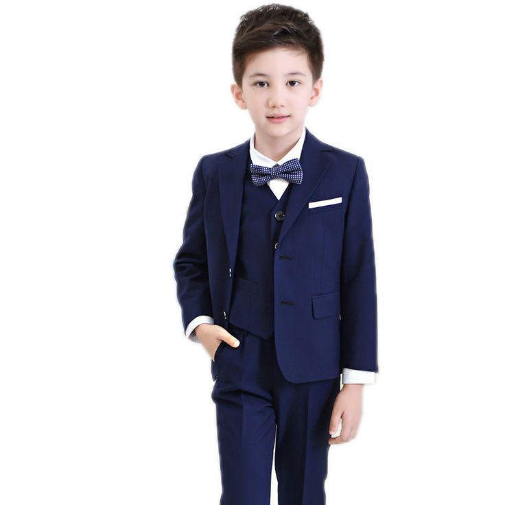 ==> [Free Shipping] Buy Best baby boys kids blazers boy suit for weddings prom formal black/navy blue dress wedding boy suits jacketspantsblouseTie 4pcs Online with LOWEST Price | 32806400932