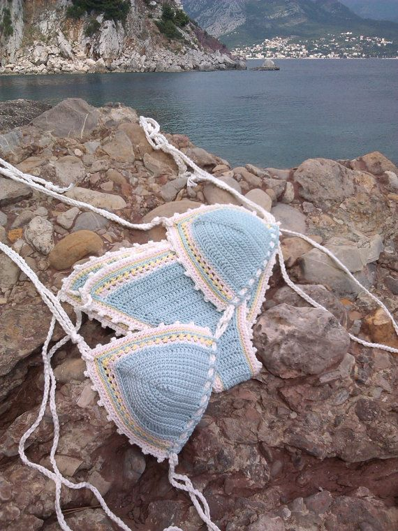 crochet bikini Seafoam Crochet Vintage by GoodMoodCreations