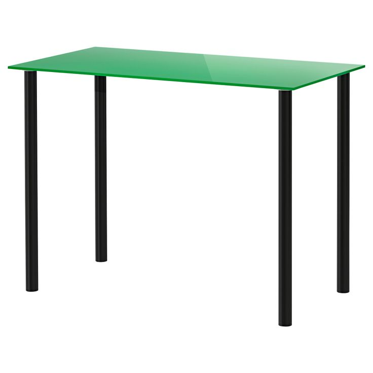 GLASHOLM/ADILS Table - glass green/black - IKEA