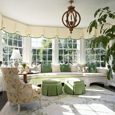 39 best images about box pleated valances on pinterest for Window covering ideas for sunrooms