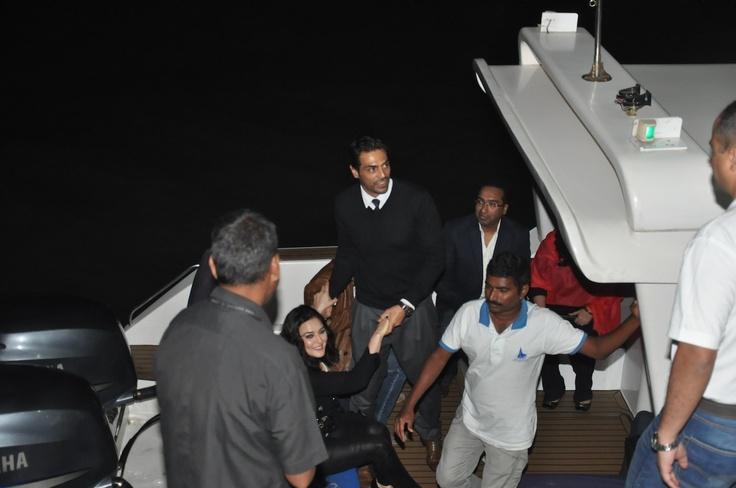 Arjun Rampal at Hrithik's Birthday Party at Yacht.