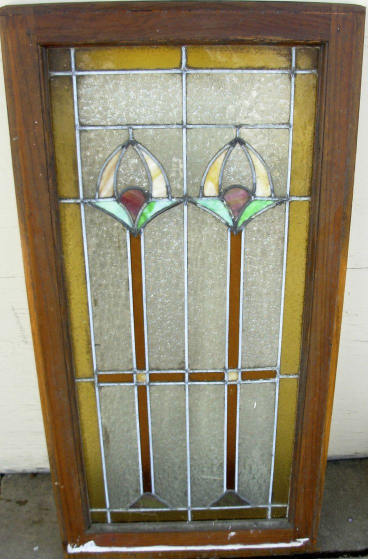 Antique stained glass doors - Details About Large Beautiful Arts Crafts Craftsman Style Stained Leaded Glass Window