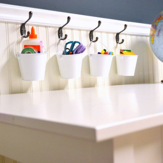 Get your kids and yourself organized before they go back to school with this easy DIY storage solution!