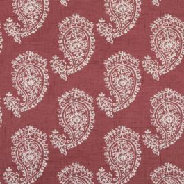Paisley Raspberry Red Oilcloth Tablecloth