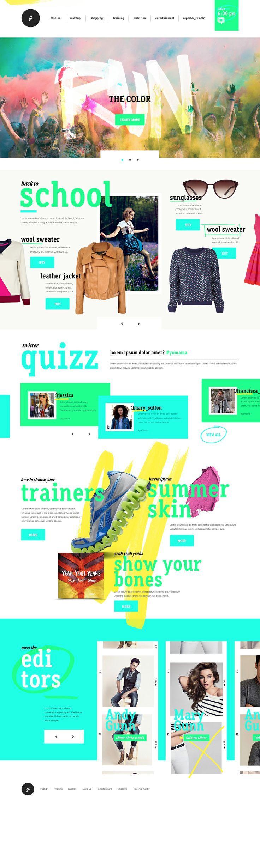 Pin de Paul Cirigliano en Web Design / Digital Inspiration | Pinterest présentation plus décalée des produits, utilisation des couleurs pour guider le regard.