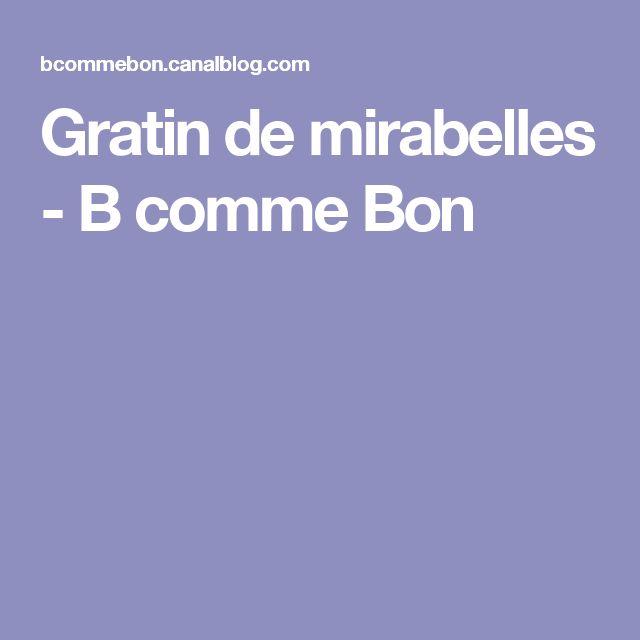 Gratin de mirabelles - B comme Bon