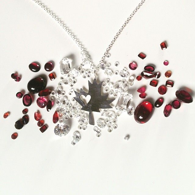 Happy Canada Day! We love celebrating our country all year round with our hand made sterling silver maple leaf heart cut out necklace.
