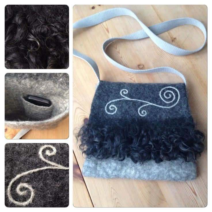 Felted bag with locks.