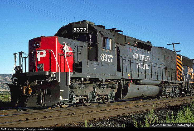 RailPictures.Net Photo: SP 8377 Southern Pacific Railroad EMD SD40T-2 at Draper, Utah by James Belmont