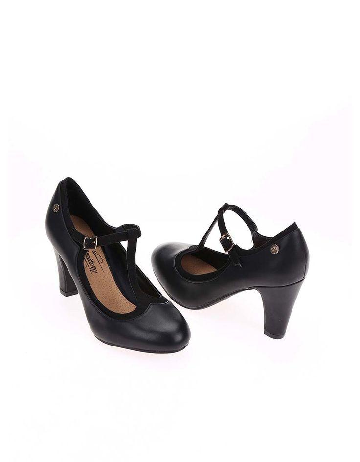 Xti - Černé boty na podpatku - 1