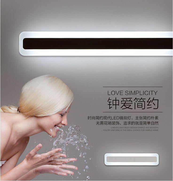 bathroom light  AliExpress.comの 壁ランプ からの 私の店への歓迎!1.ある場合には、 ロシア友人、 あなたのことを覚えてくださいフルネームを提供するので、あなたの小包を受け取ることができることを正常に。2.私たちは工場から直接販売、 私たちはあなたでは、 最高品質の製品、 を速 中の アルミ アクリル led ミラー ライト用浴室寝室リビング ルーム現代の簡単な 60 センチ/18 ワット ac 80 265 ボルト ミラー ライト 2129 18
