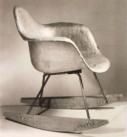 rocking chair eames rocker eames chairs lounge chair furniture vintage ...