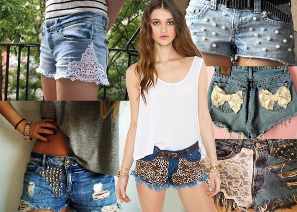 Idee fai-da-te per creare e personalizzare gli shorts in jeans