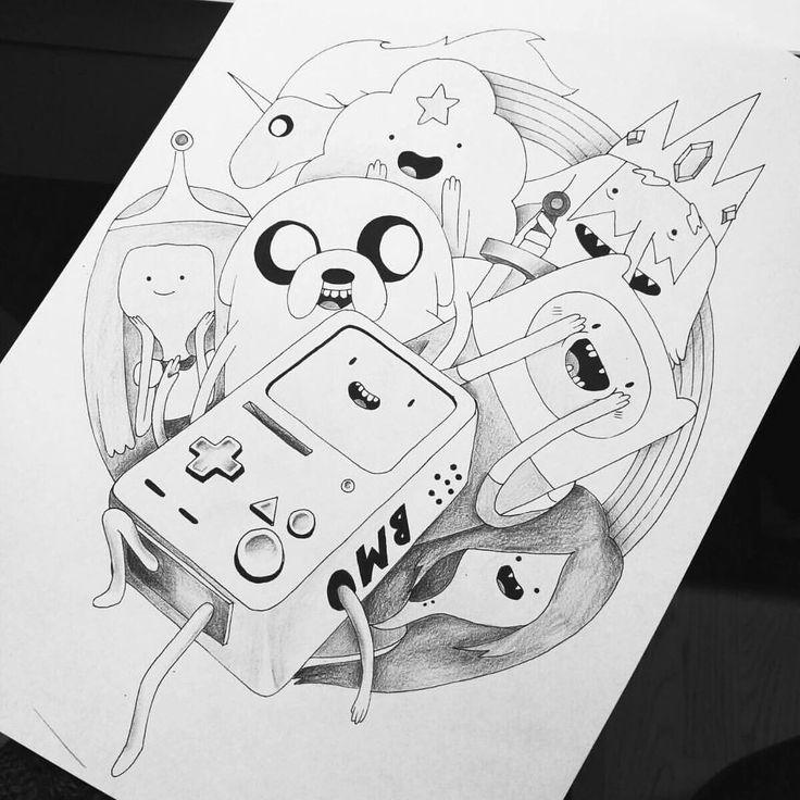 """Mi piace"": 232, commenti: 12 - Dora (@doratattoos) su Instagram: ""Adventure Time """
