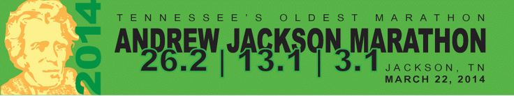 March 14, 2015  Jackson Tennessee is home of the Andrew Jackson Marathon. https://andrewjackson.racesonline.com Benefits Carl Perkins Center for the Prevention of Child Abuse