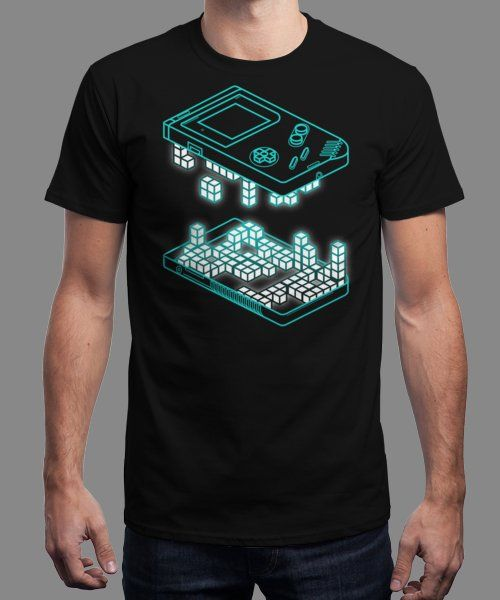 """Game Pixels"" is today's £8/€10/$12 tee for 24 hours only on www.Qwertee.com Pin this for a chance to win a FREE TEE this weekend. Follow us on pinterest.com/qwertee for a second! Thanks:)"