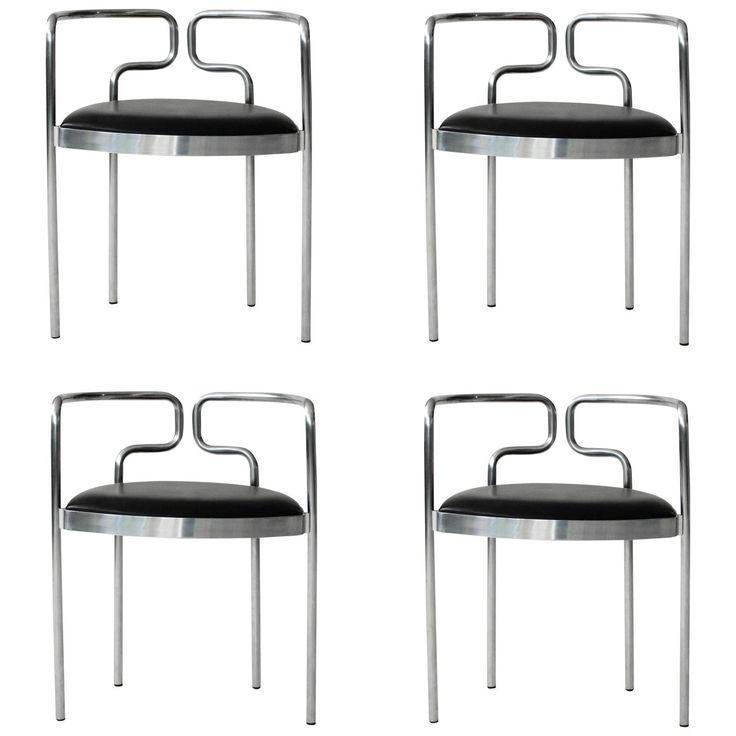 Four Henning Larsen Cafe Chairs for Fritz Hansen 1