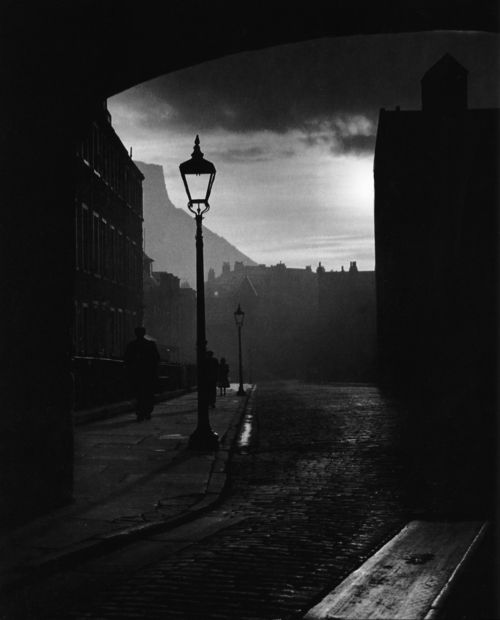 Beautiful photography is always something I can't pass up. Bill Brandt, A street in Edinburgh, Scotland, 1942
