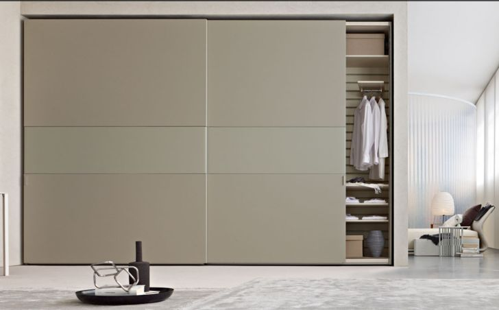 Getting Proper Wardrobe Design to Make One on Your Bedroom: Endearing Light Brown Wall Wardrobe Design Large Dimension With…