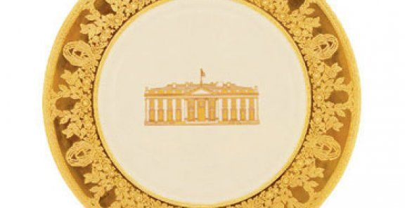 White House China: issued for the 200th anniversary if the white house. designed in part by hillary clinton
