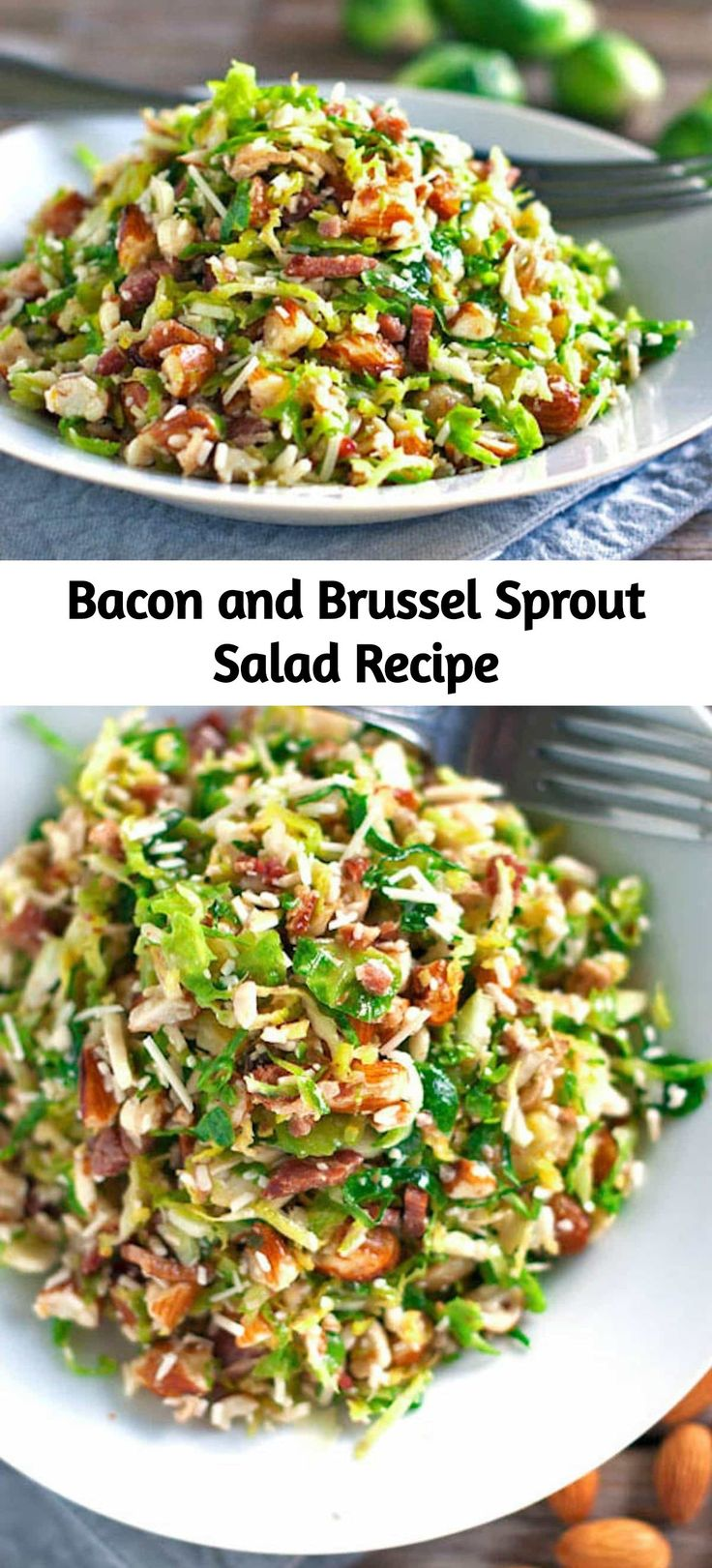 Dieser Speck-Rosenkohl-Salat ist so gut! Dünn geschnittener Rosenkohl, …  – Food