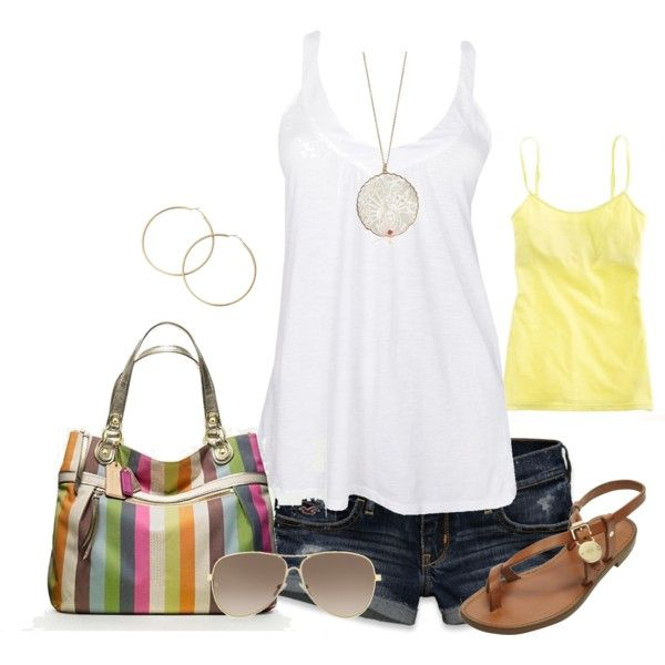 outfits: Casual Summer, Coach Purse, Summer Style, Spring Summer, Cute Summer Outfits, Simple Summer, Summer Clothes, Longer Shorts