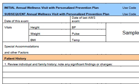 Free Resume Medicare Annual Wellness Visit Requirements - Fresh medicare annual wellness visit template scheme