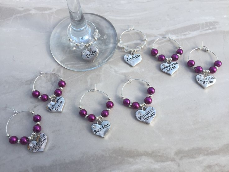A personal favourite from my Etsy shop https://www.etsy.com/uk/listing/277275976/wedding-top-table-wine-glass-charms