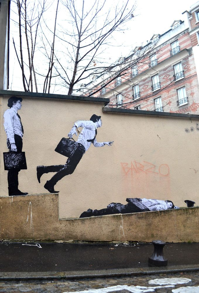 Levalet Street Art: French Artist Charles Leval