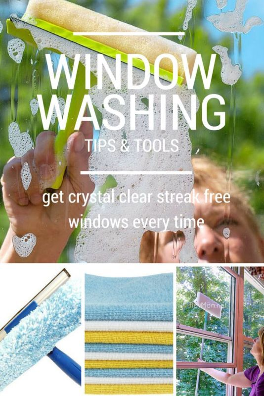 Window Washing Tips & Tools for crystal clear, streak free windows every time!