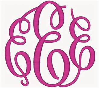 Monogram Fonts Free Download Fancy circle large monogram