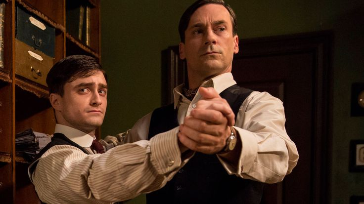 "Jon Hamm and Daniel Radcliffe in ""A Young Doctor's Notebook."""
